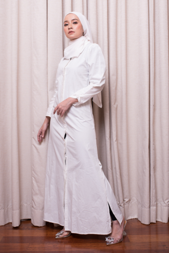Mulan Basic Dress - White
