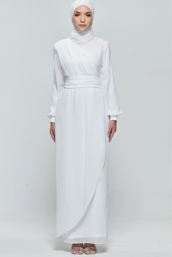 Andora Dress in Pearl White