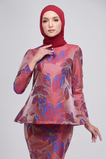 Laura Kurung in Pomegranate Red
