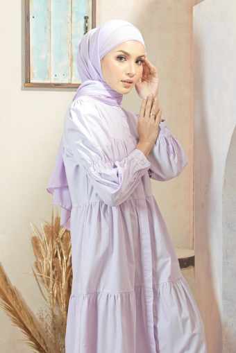 Asly Gathers Dress - Lilac