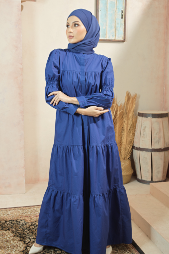 Asly Gathers Dress -Midnight Blue