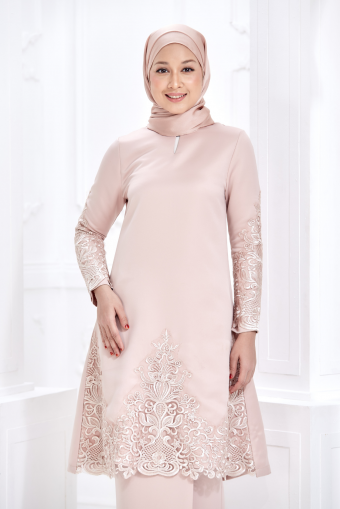 Zara Kurung -  Dusty Pink