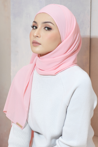 Chiffon Frappe - Coral Pink