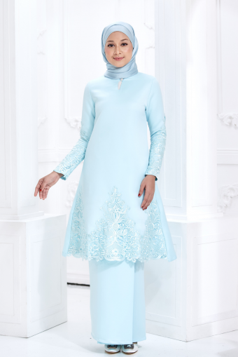 Zara Kurung - Mint Blue