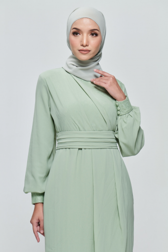 Andora Dress in Sage Green