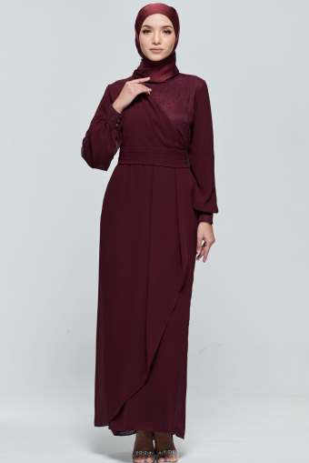 Andora Dress in Burgundy