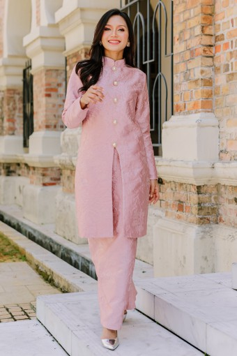 Mahsuri Exclusive Kurung - Dusty Pink