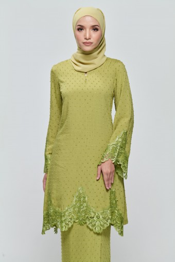 Kamila Kurung in Lime Green