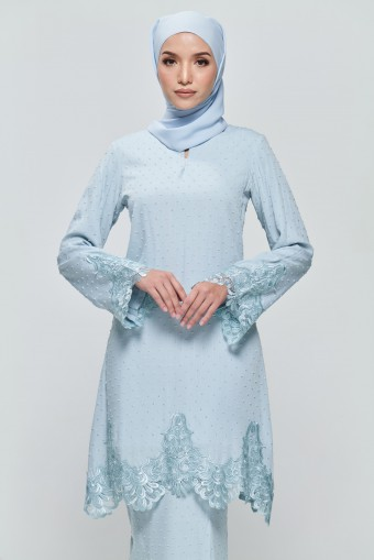 Kamila Kurung in Baby Blue